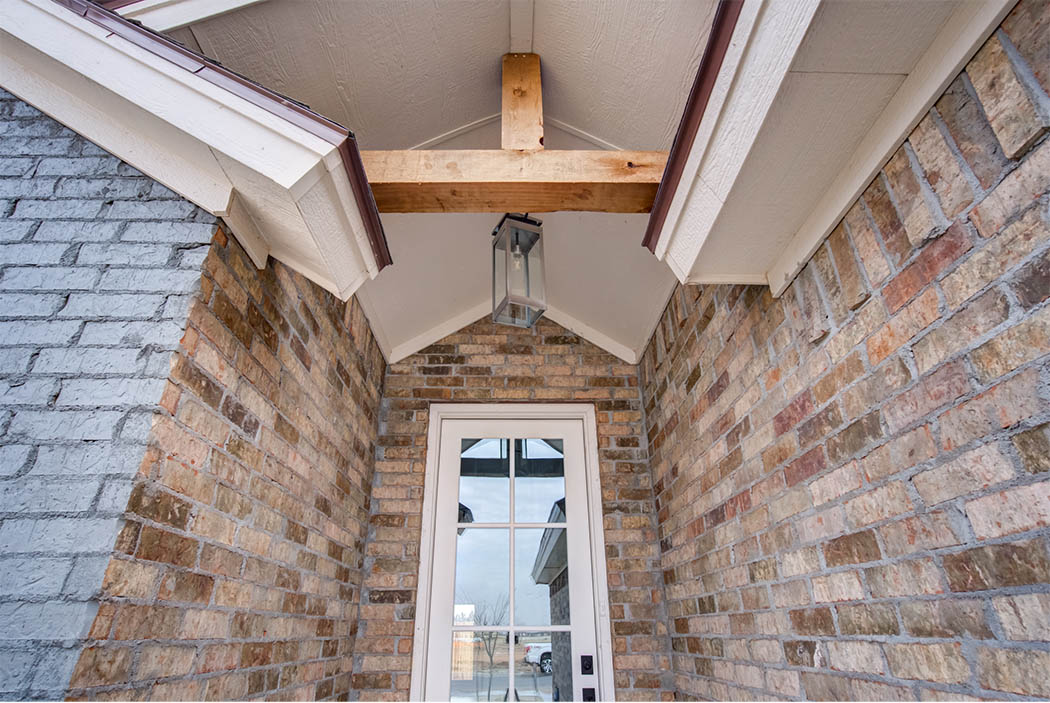 Detail of exterior of new home for sale by Sharkey Custom Homes, in Lubbock, Texas.