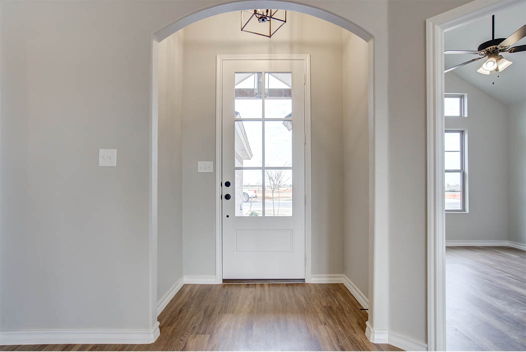 Entry of new home for sale in Lubbock, Texas.