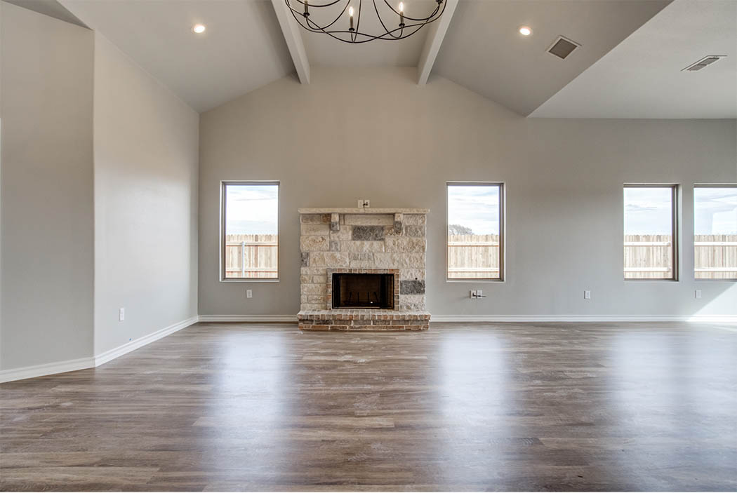 Spacious living area in home for sale in Lubbock.