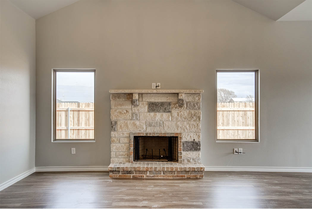 Beautiful living area in new home for sale in Lubbock, Texas