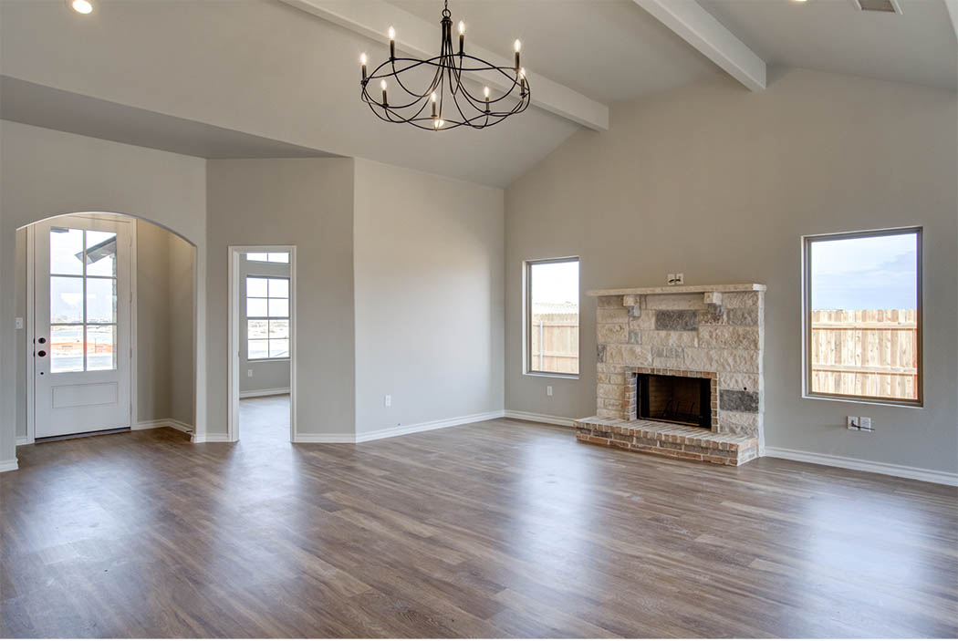 Living area in beautiful home by Sharkey Custom Homes, Lubbock, Texas.