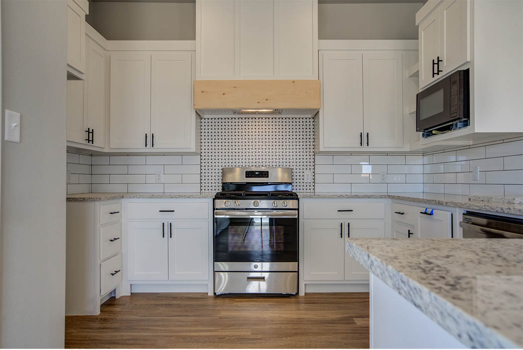 Kitchen in beautiful new home for sale in Lubbock, Texas.