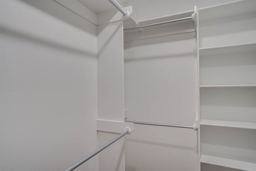 Master closet in new house for sale in Lubbock.