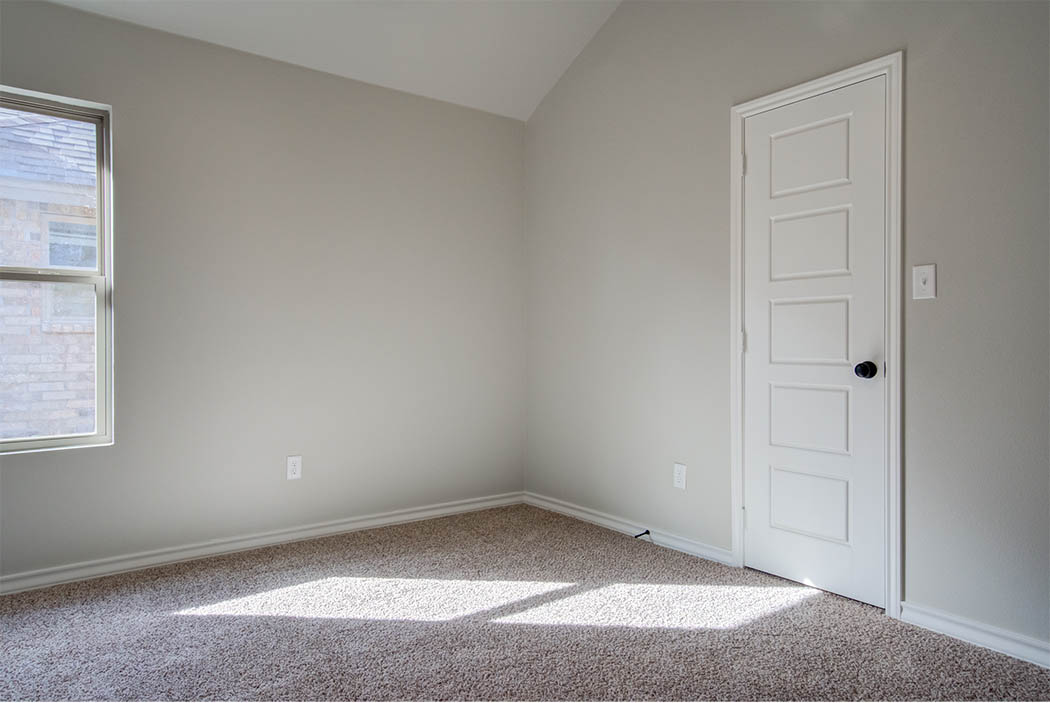 Bedroom in beautiful home for sale in Lubbock, Texas.