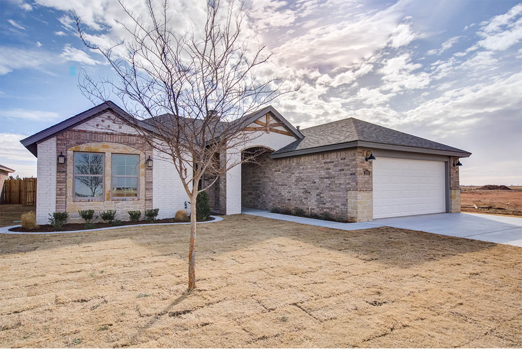 Exterior of new home for sale in Lubbock.