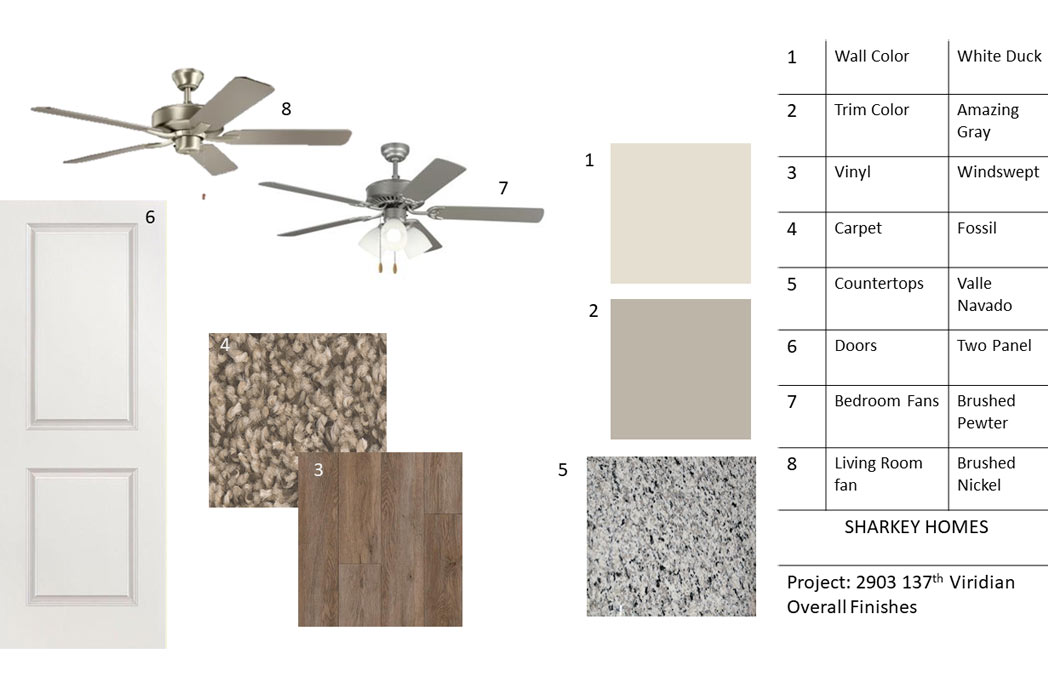 Interior finishes of new home for sale in the Lubbock area.