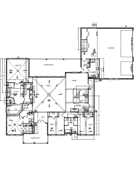 Floor plan of beautiful new West Texas home.