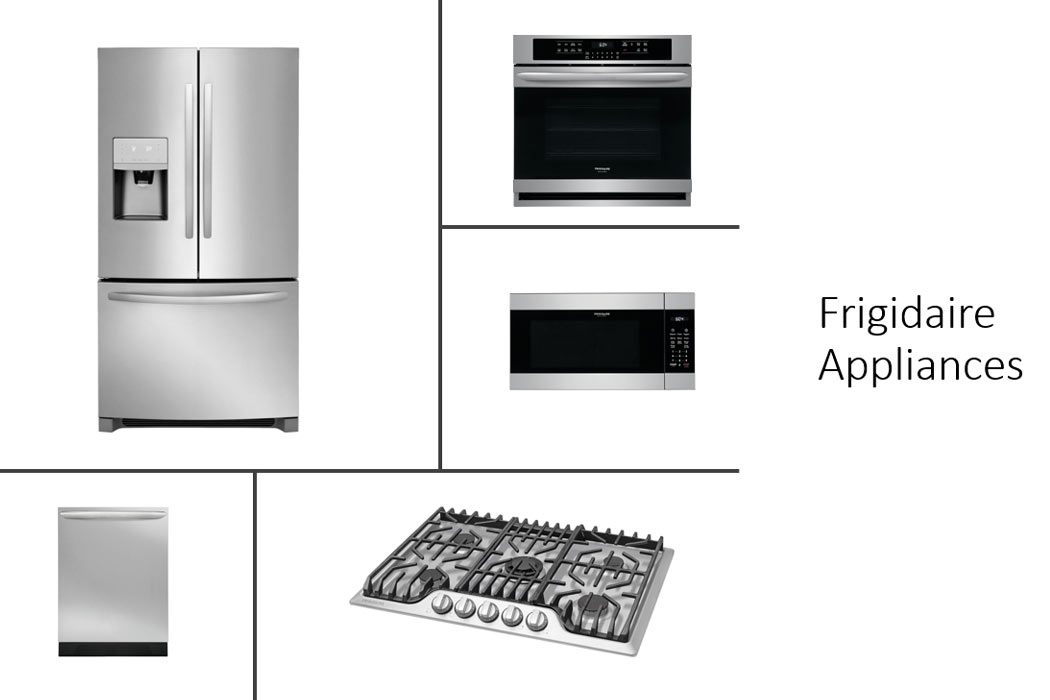 Beautiful Frigidaire appliances in new home for sale in Lubbock, Texas.