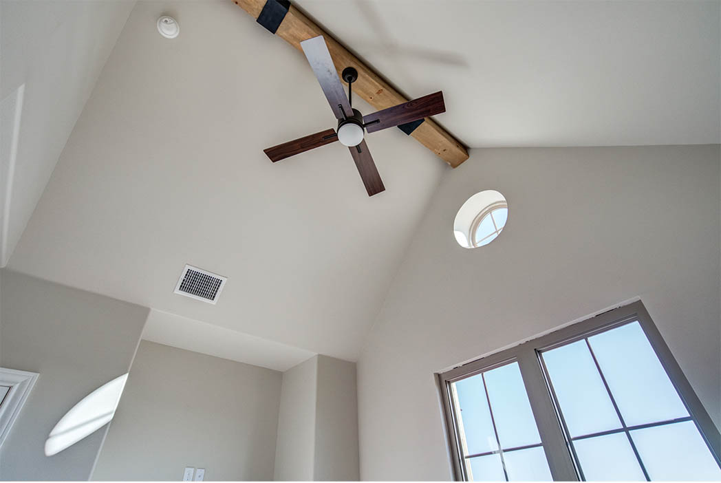 Vaulted ceiling in spacious master bedroom in new house for sale in Lubbock.
