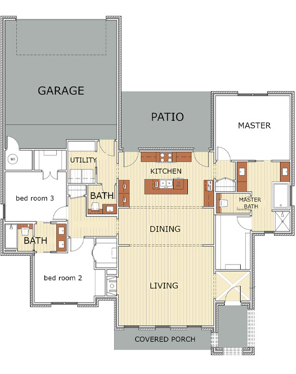Floor plan of beautiful new home in Lubbock, Texas.