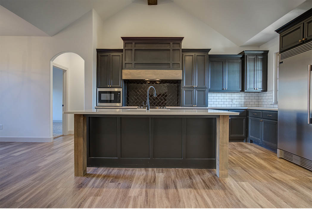 Kitchen fixtures in beautiful new home for sale in Lubbock, Texas.