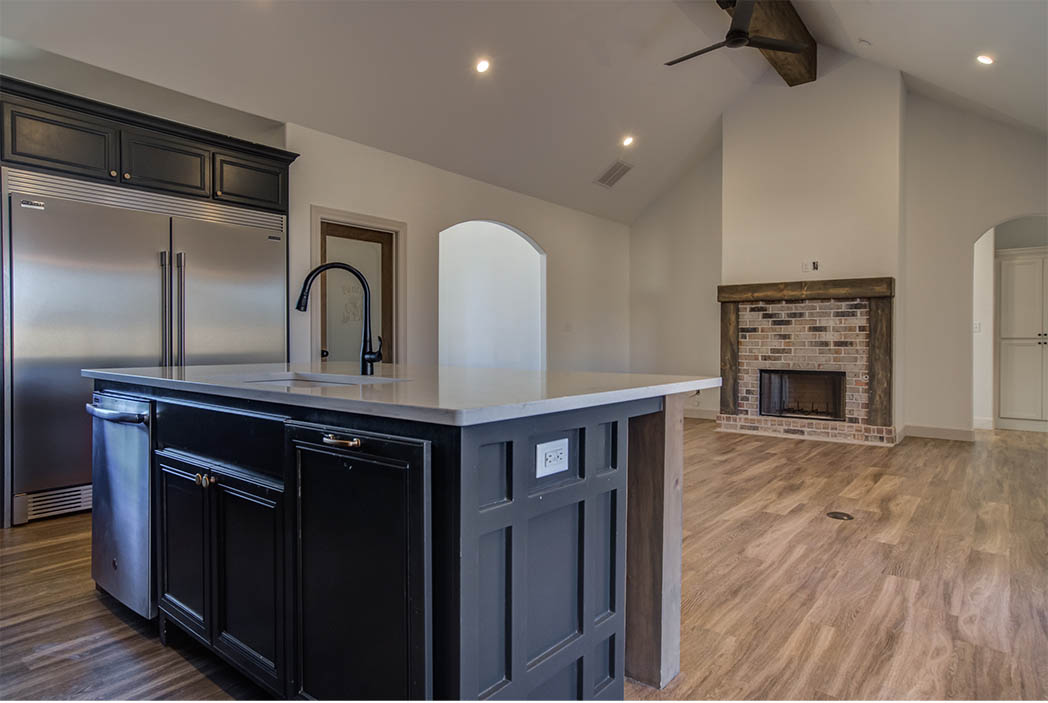 Kitchen in beautiful new Lubbock home for sale.