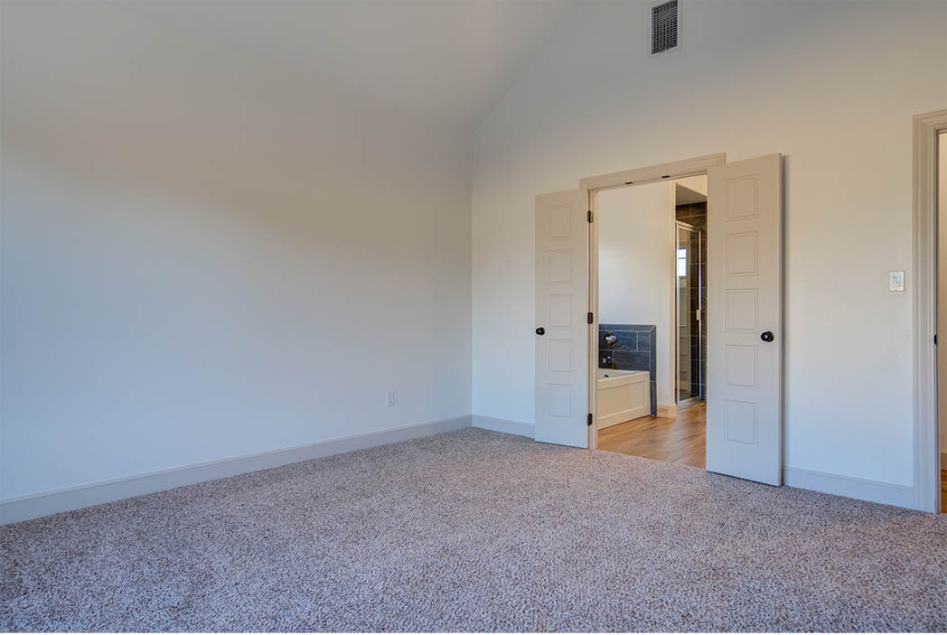 Master bedroom in new home for sale in Lubbock.