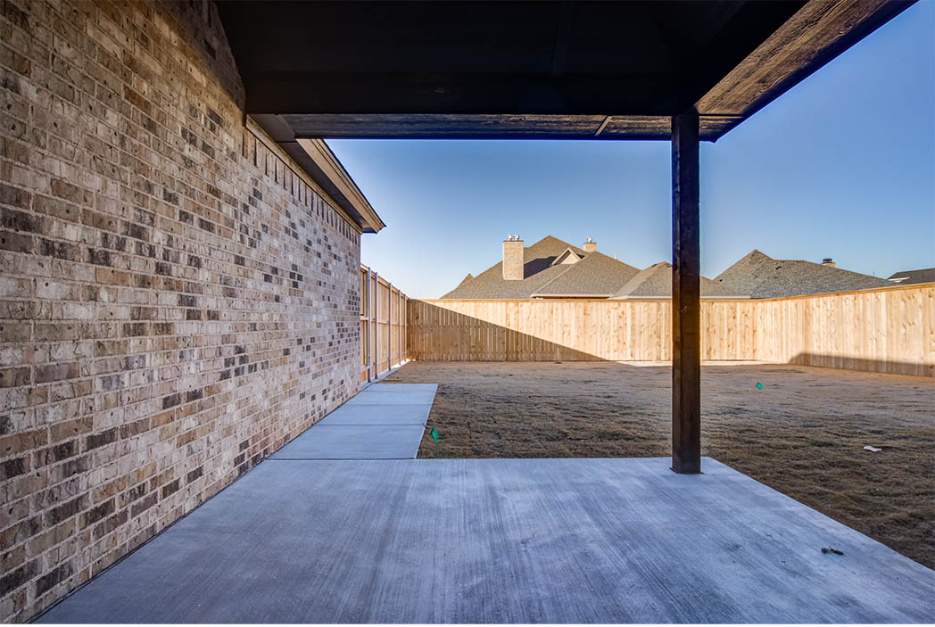 Patio area of beautiful home for sale in Lubbock.