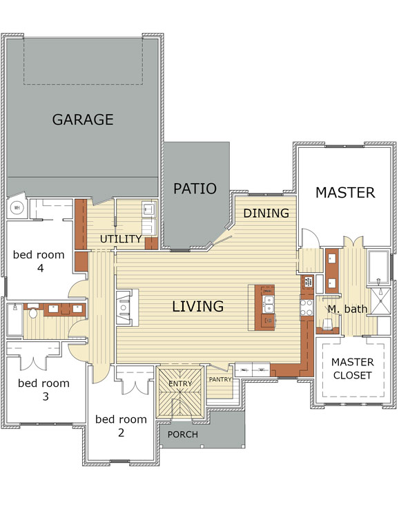 Floor plan of beautiful new home in the West Texas area.