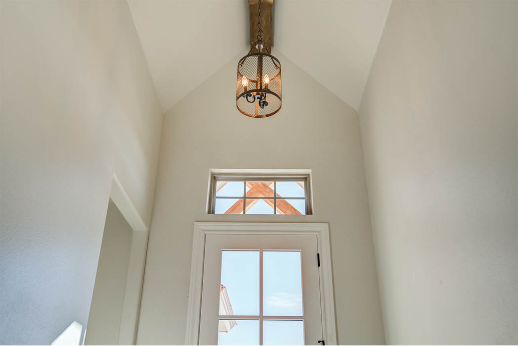 Detail on interior entry in house for sale in Lubbock.