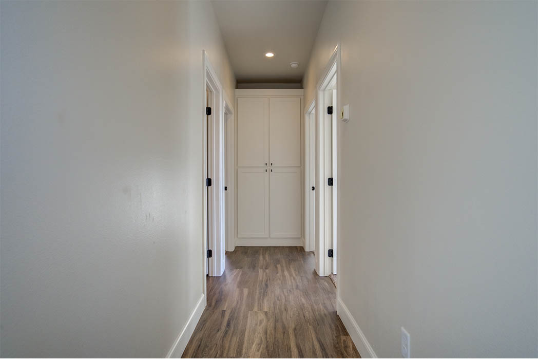 Hallway in new home for sale in Lubbock.