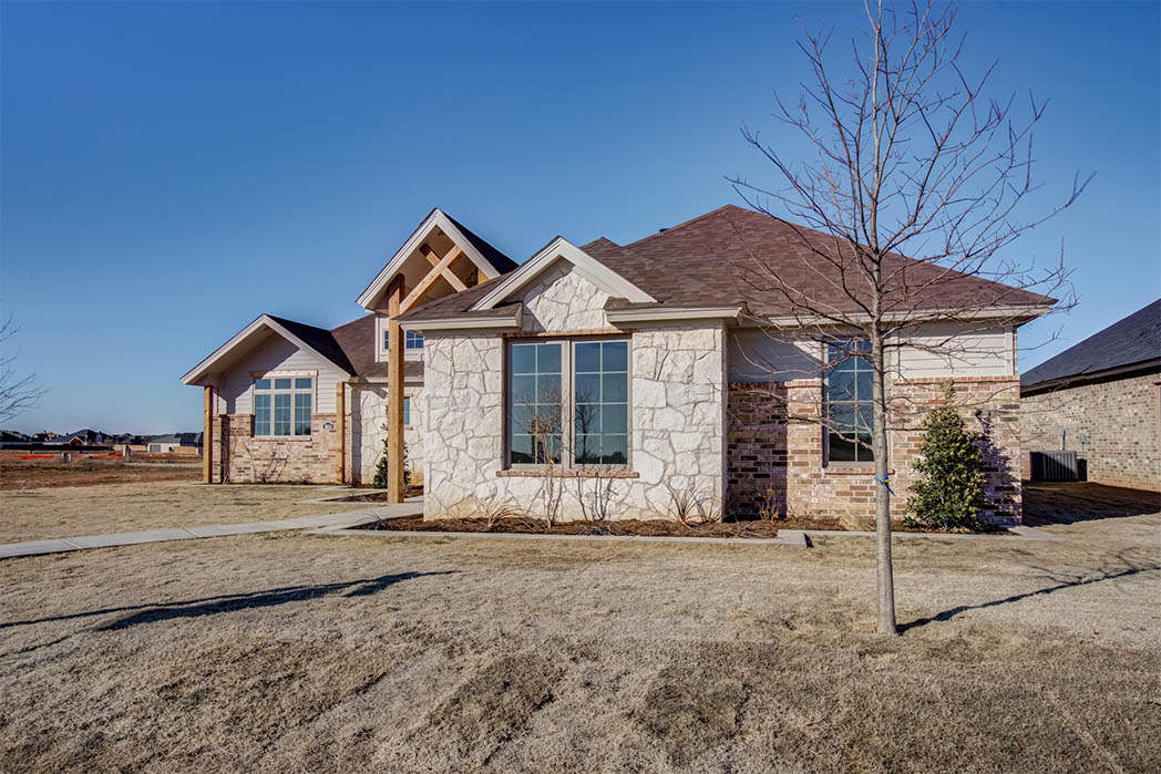 Exterior of beautiful house by Sharkey Custom Homes in Lubbock, Texas.