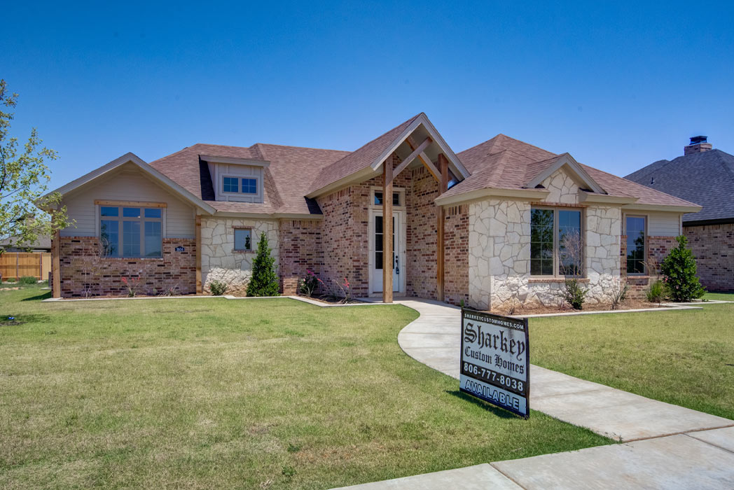 Beautiful home for sale by Sharkey Custom Homes in Lubbock, Texas.