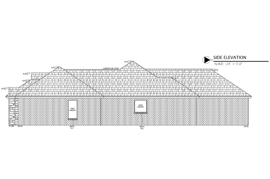 Diagram of beautiful new home in Lubbock, Texas.