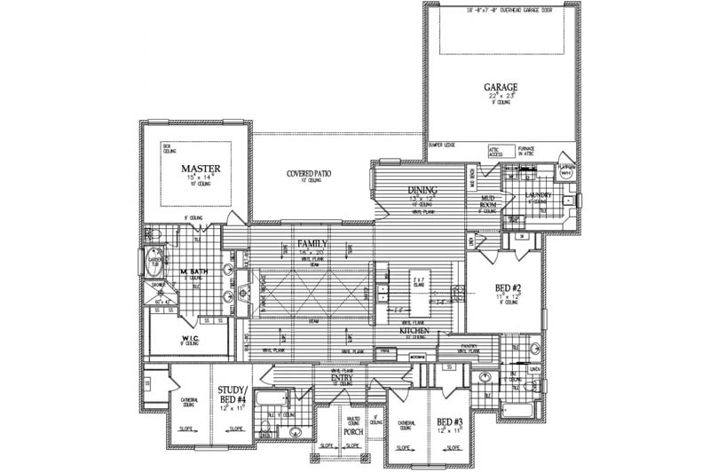 Plan of custom home.