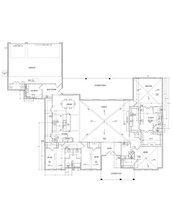 Floor plan of beautiful new West Texas home in Lubbock.