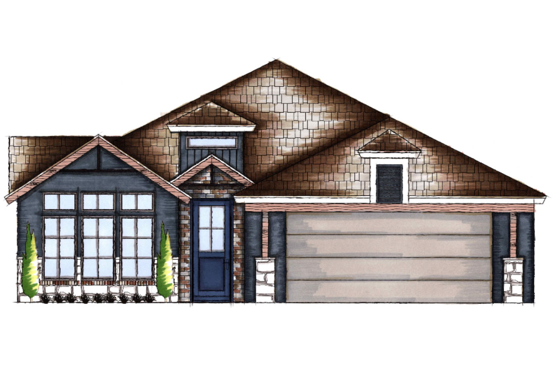 Beautiful new home for sale in Lubbock, Texas.