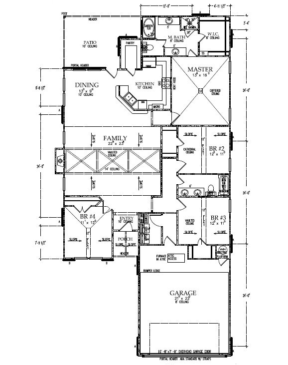 Floorplan of beautiful custom home by Sharkey Custom Homes in Lubbock.