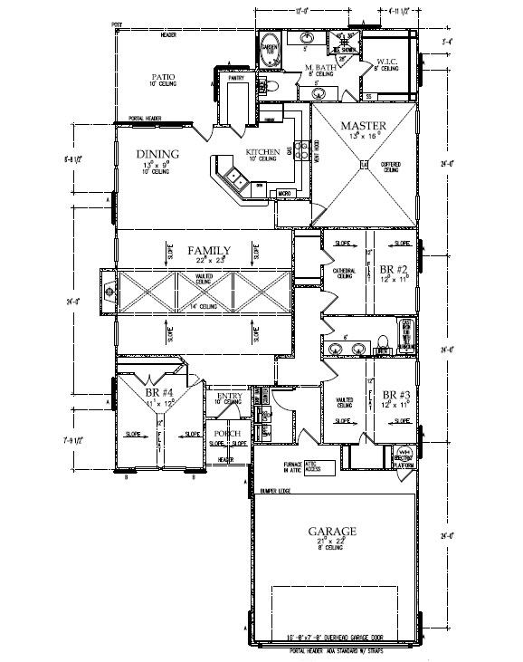 Floorplan of beautiful custom home by Sharkey Custom Homes in Lubbock.