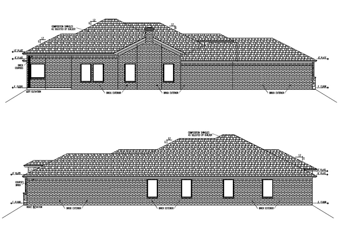 Diagrams of custom home at 5701 116th Street in Lubbock, Texas