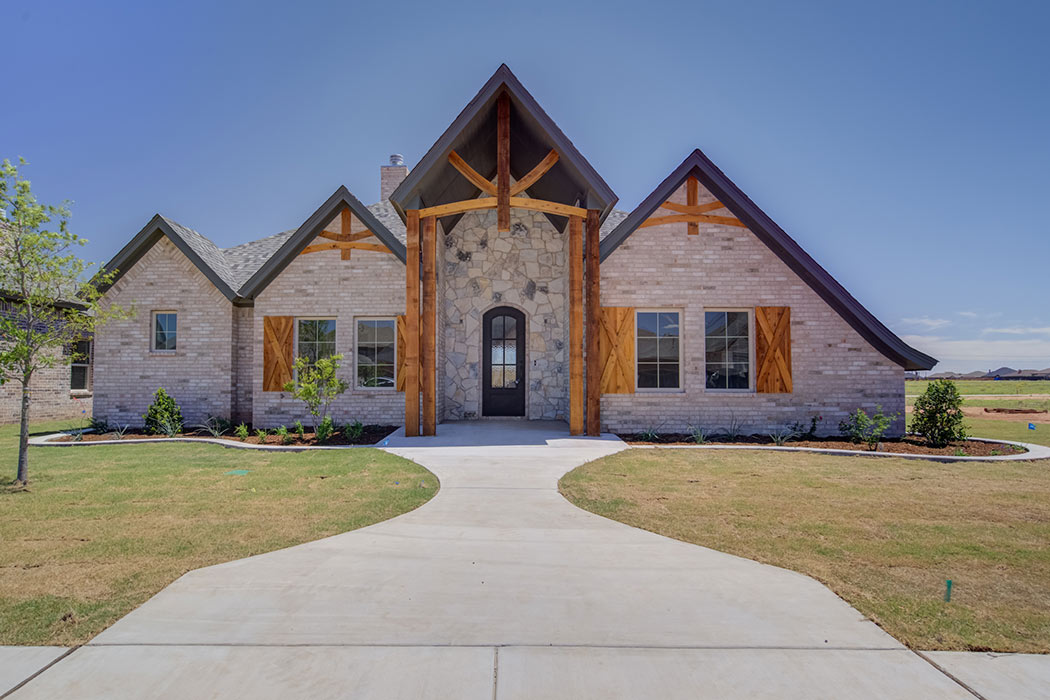 Lovely home built by Sharkey Custom Homes in Lubbock, Texas, with a distinctive style.