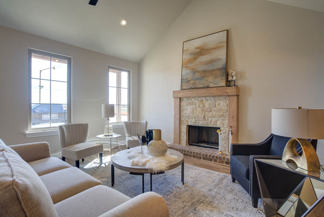 Beautiful living area in new Lubbock, Texas home for sale.