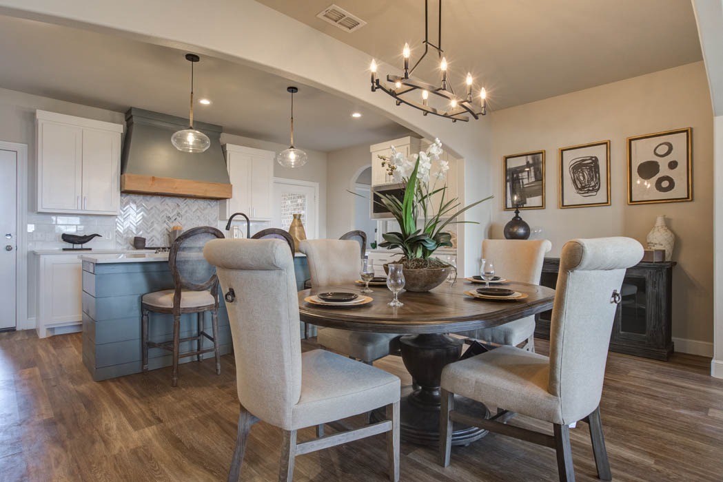 Beautiful dining area in new Lubbock, Texas home for sale.