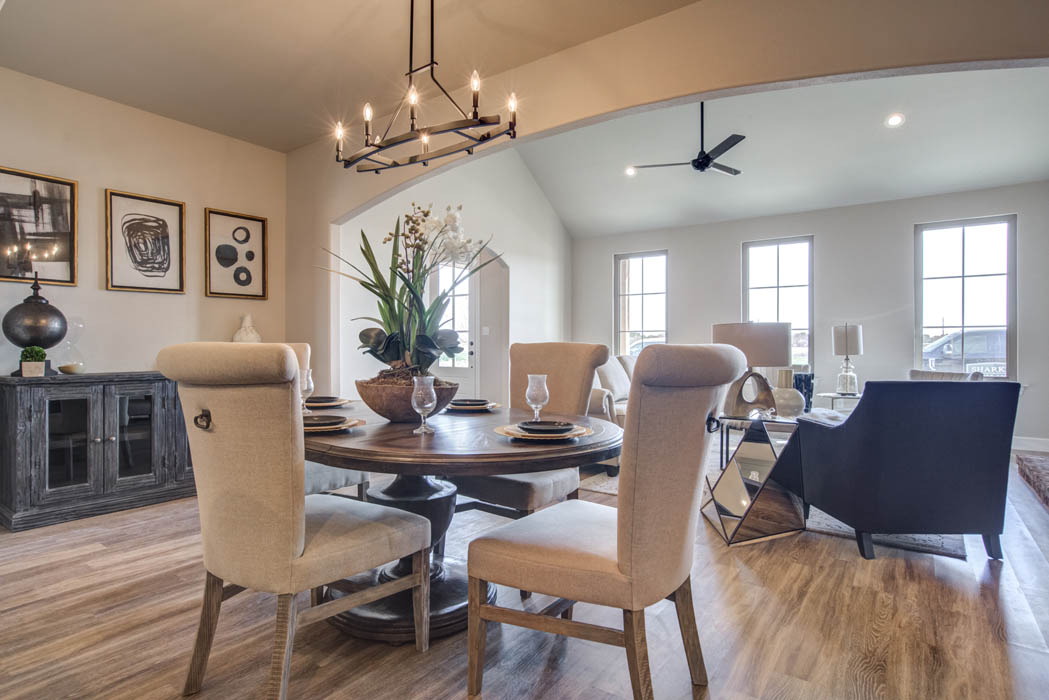 View of beautiful dining area in spacious new home for sale in Lubbock.