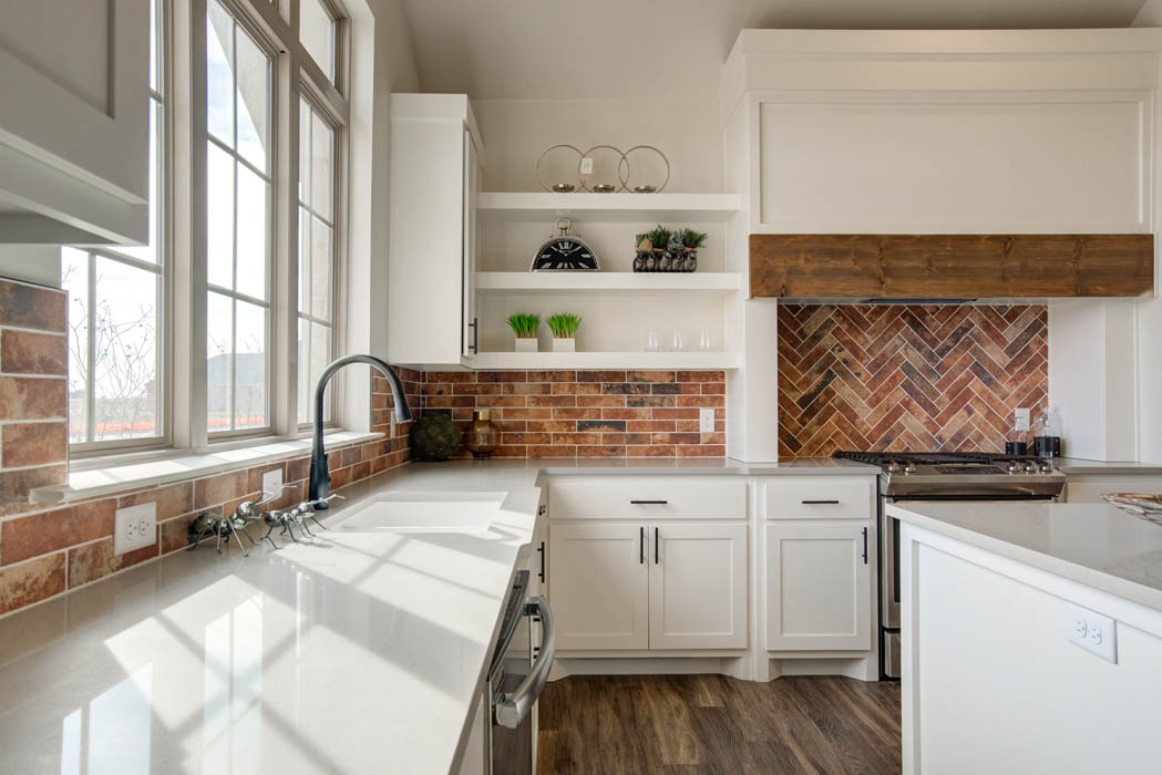 Spacious kitchen countertops in beautiful new home for sale in Lubbock.