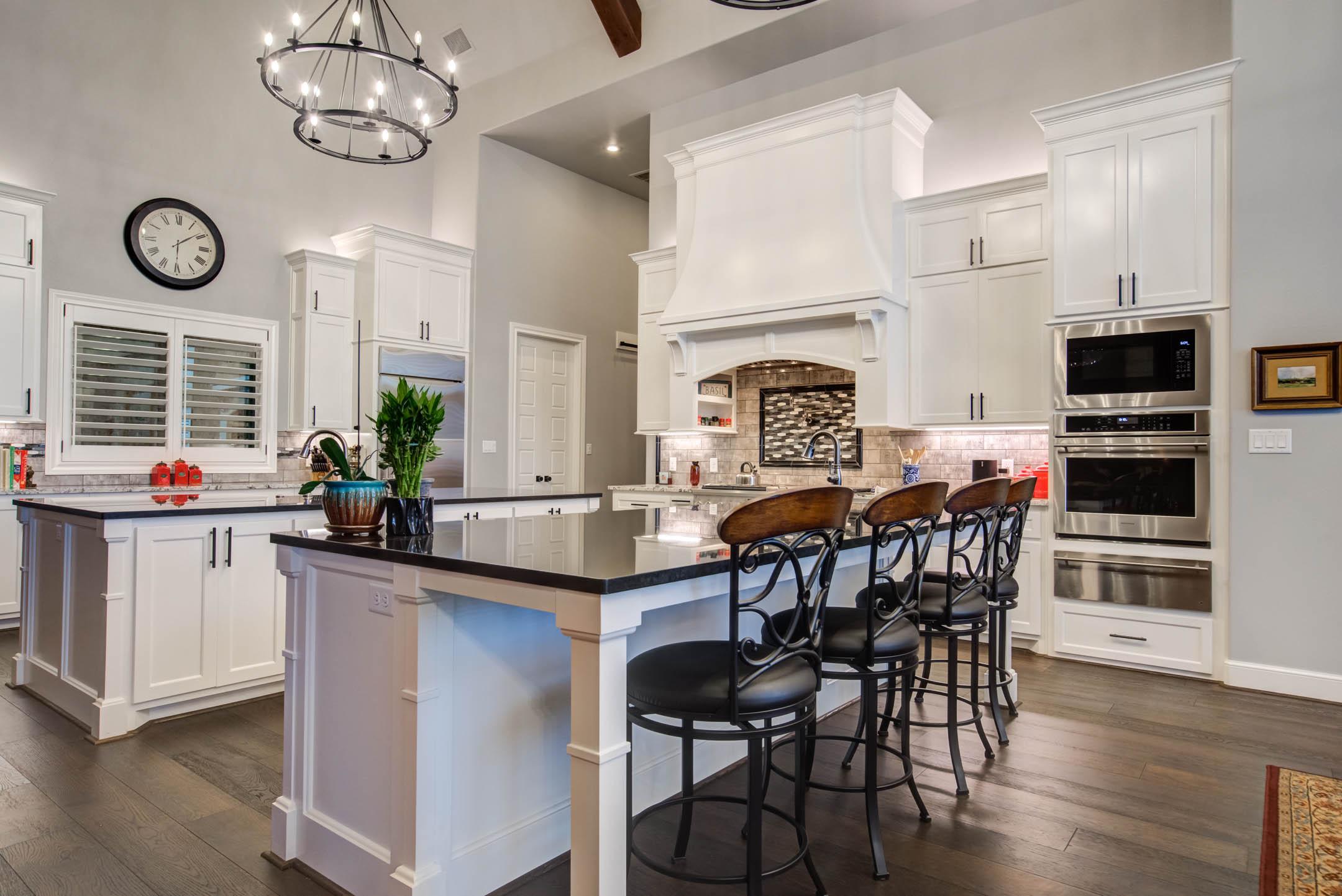 Beautiful, modern kitchen in custom home in Lubbock, Texas.