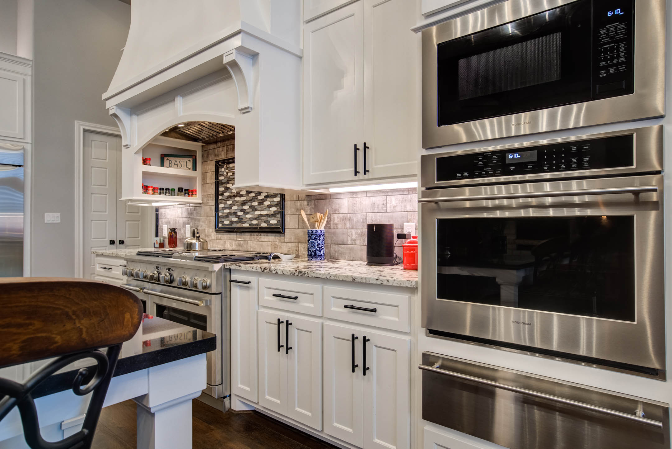 Spacious kitchen in custom home in Lubbock, Texas.