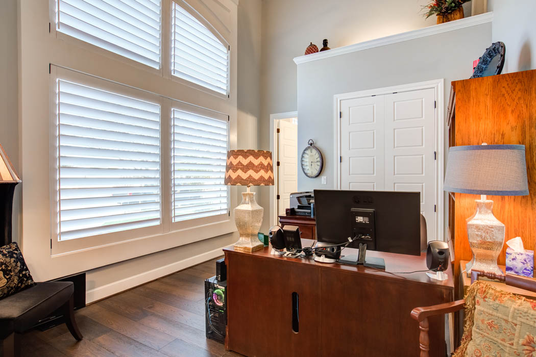 Office in beautiful custom home in Lubbock.