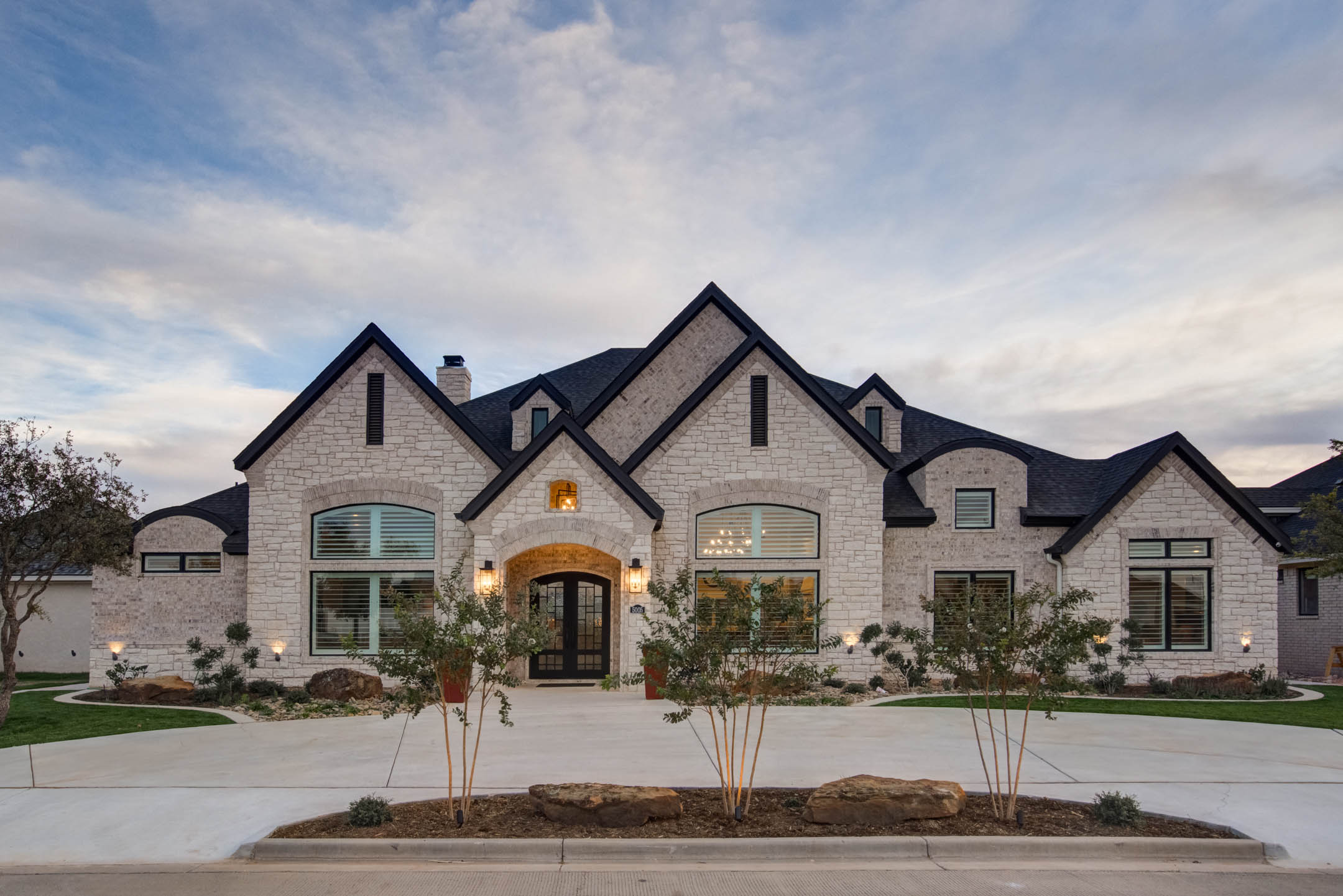 Beautiful custom home built in Lubbock, Texas.