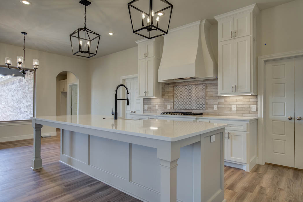 Beautiful kitchen in new home for sale in the Lubbock, Texas area.