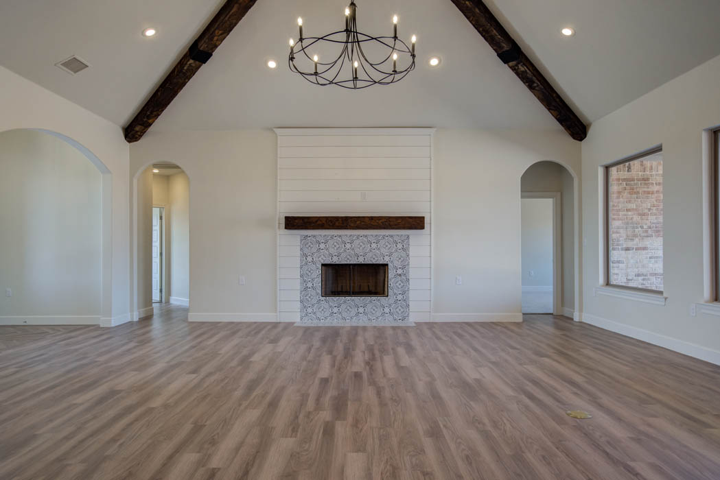 Beautiful living area in home for sale in the Palms at Kitty Hawk near Lubbock, Texas.