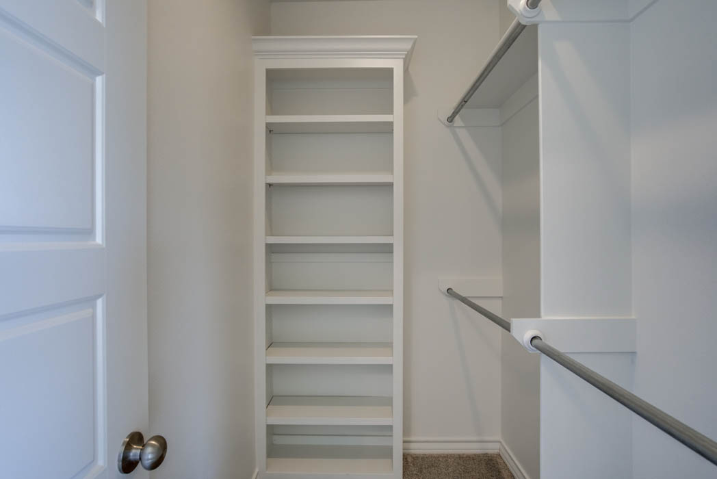 Spacious closet in new home for sale near Lubbock, Texas.