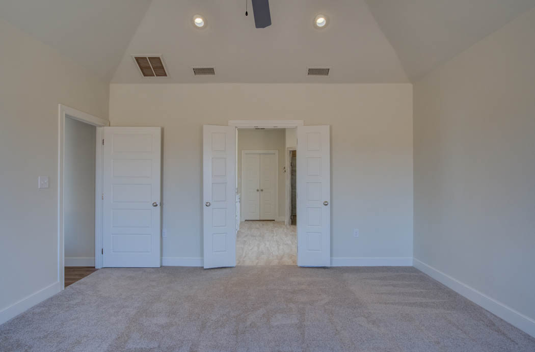 Spacious master bedroom in Lubbock area home.