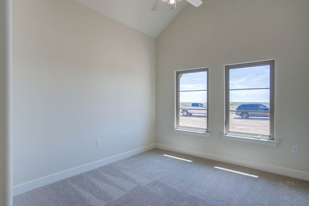 Bedroom in new home for sale in The Palms at Kitty Hawk, near Lubbock, Texas.