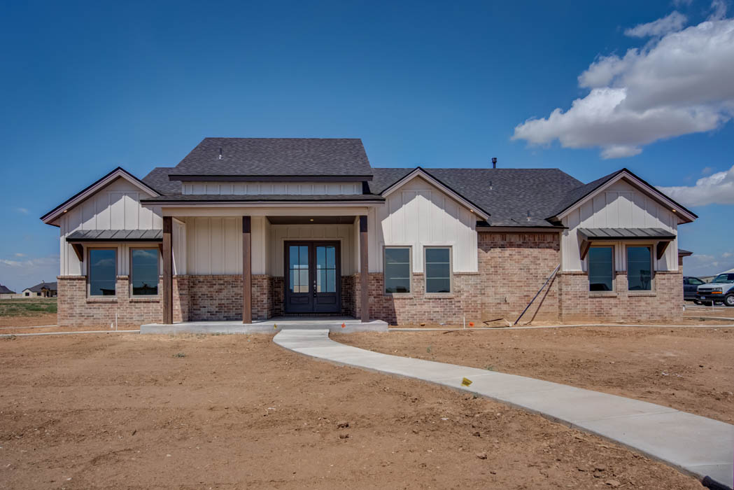 Beautiful home by Sharkey Custom Homes in New Home, Texas.