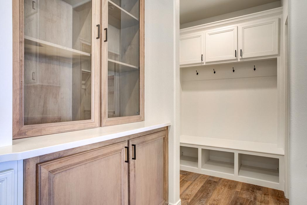Spacious cabinet work in beautiful kitchen in new home in Lubbock.