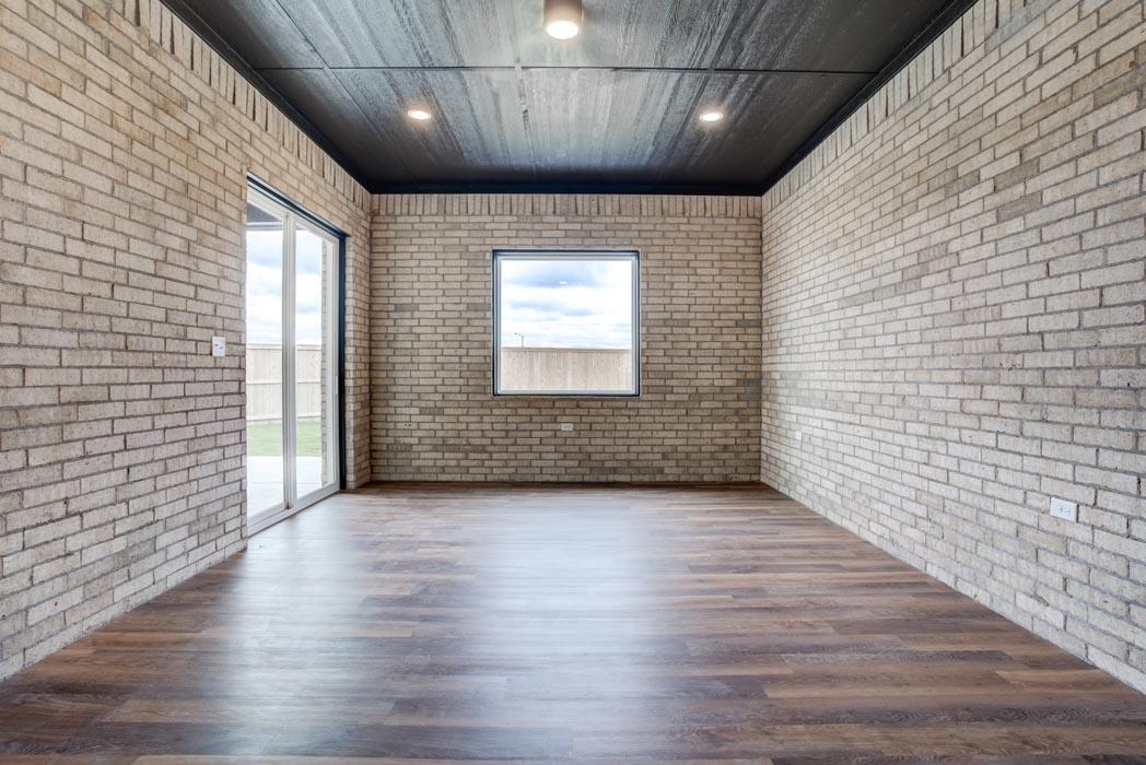 Example of spacious 'bonus room' in beautiful new home built in Lubbock, Texas.