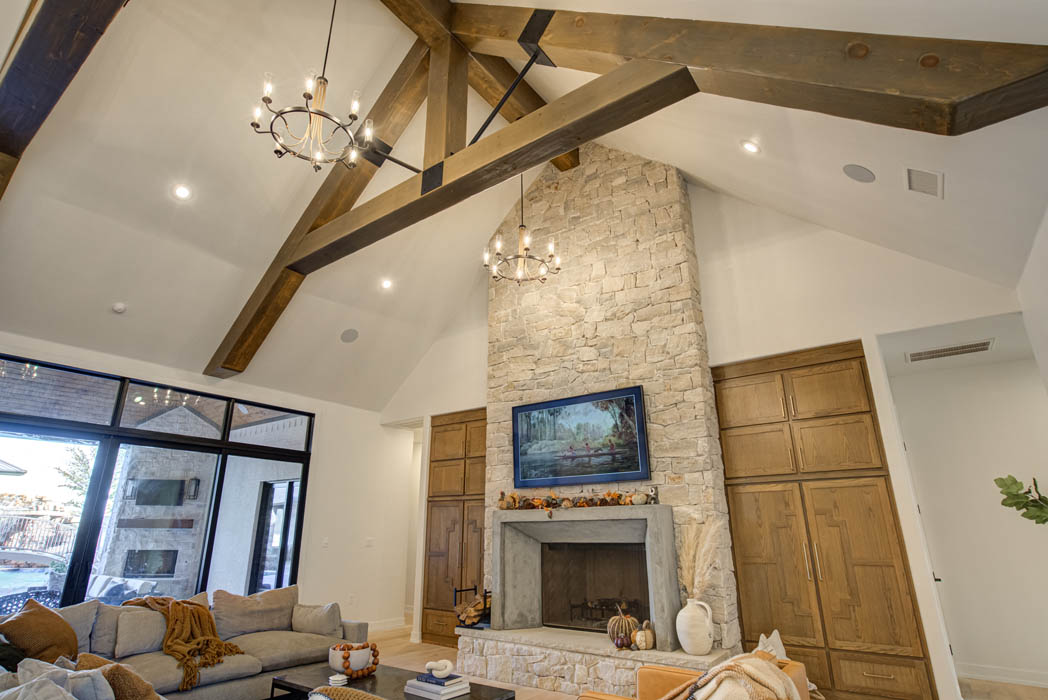 Beautiful living area in home near Lubbock, Texas.