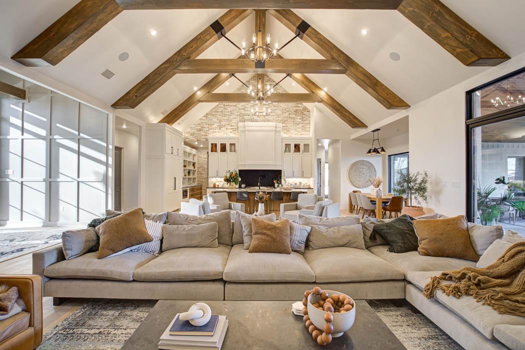 Spacious open concept custom home near Lubbock, Texas.