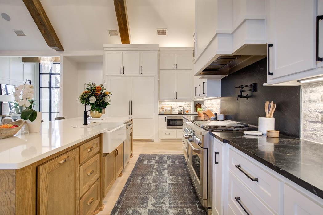 Beautiful kitchen in custom home near Lubbock, Texas.